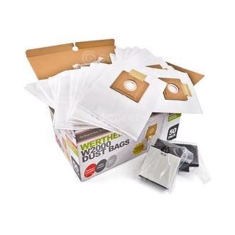 Clean Up Wertheim W2000 50 Pack Bags + Bonus 2 Filters