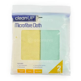 Clean Up Microfibre Cloths 2-pack  - Godfreys