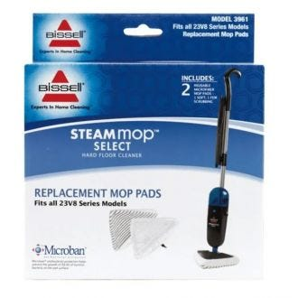 Bissell Steam Mop Select 23V8F Replacement Pads 2pk  - Godfreys