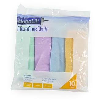 Clean up Microfibre Cloths 10 Pack  - Godfreys