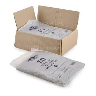 Disposable Bin Liners - 72L Black 250ctn  - Godfreys