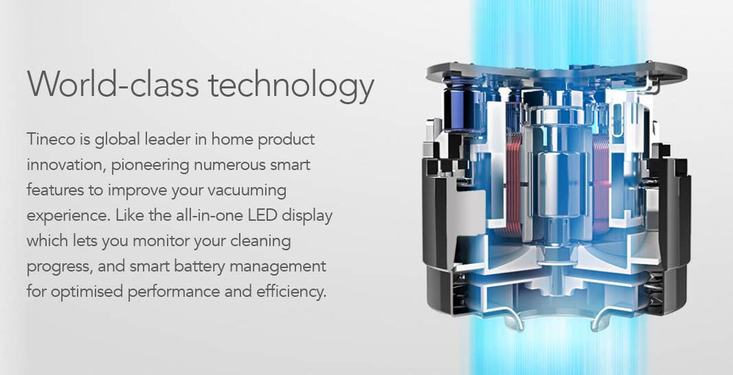 Technology inside Tineco stick vacuums