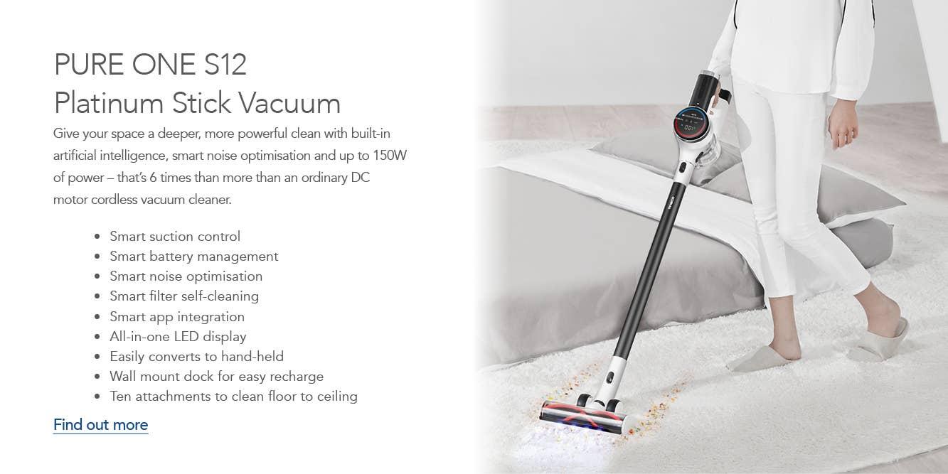 Tineco PURE ONE S12 Platinum Stick Vacuum
