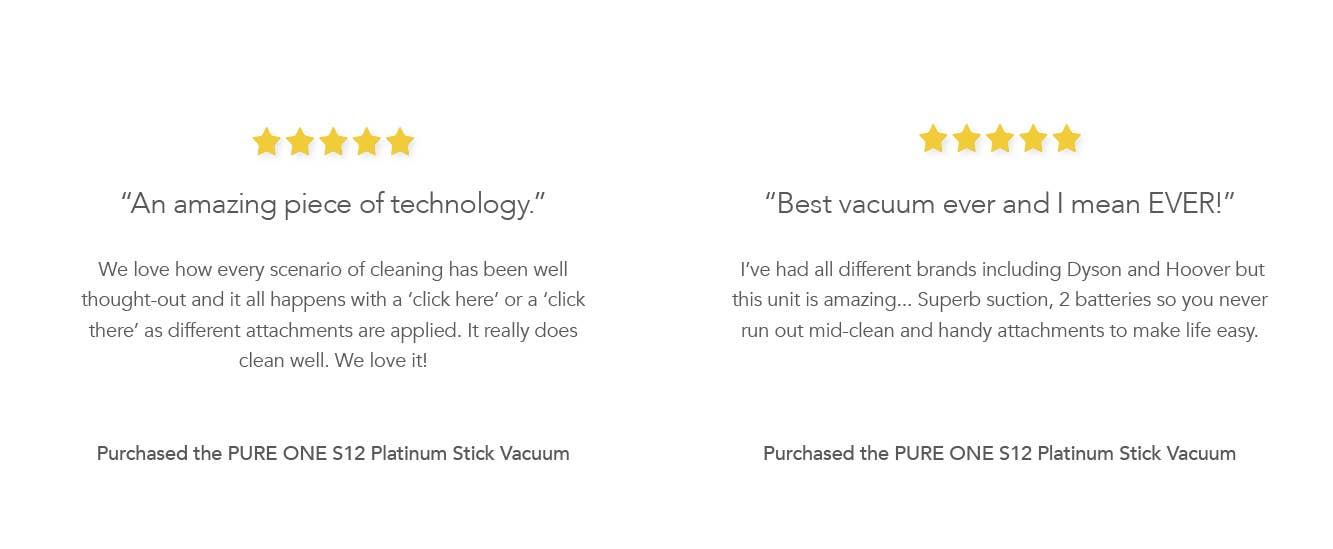 Testimonials: Two trusted customer reviews