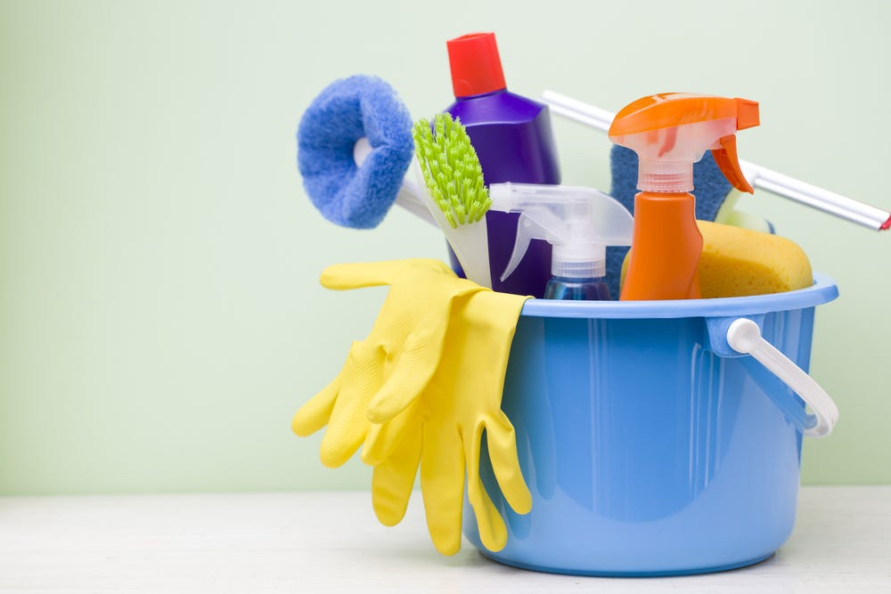 The right cleaning supplies make for a quick clean