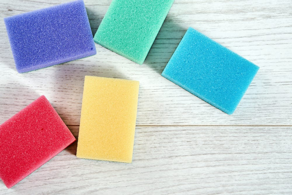 Earth-friendly cleaning sponges
