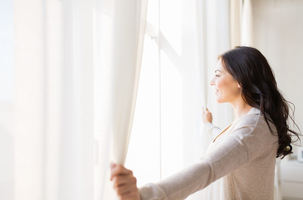 Opening windows to stop the spread of germs